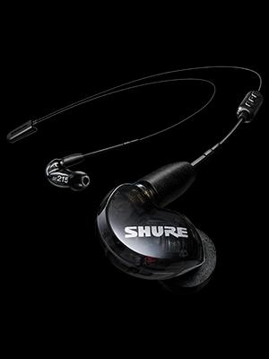 black bluetooth earphones