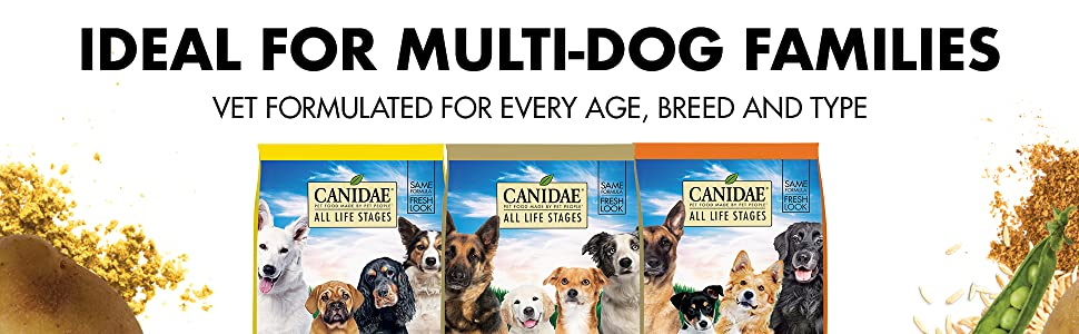 dog food for multiple dogs, vet formulated dog food, all breed dog food, all age dog food