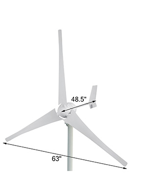Amazon Com Mophorn Wind Turbine 700 Watt Wind Turbine Generator Dc