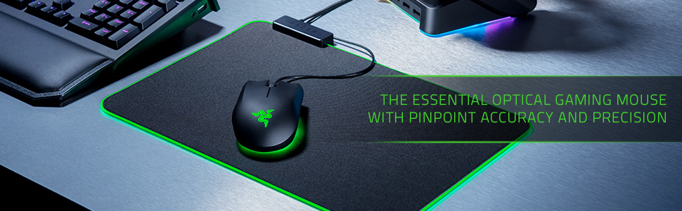 Razer Abyssus Essential, Gaming Maus, Optischer Gaming Sensor, Ergonomisch
