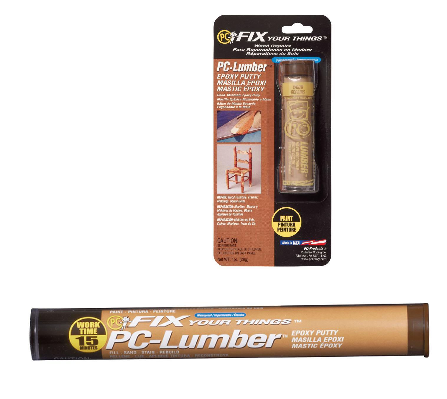 Amazon.com: PC Products 25574 PC-Lumber Moldable Epoxy Putty, 1 oz ...