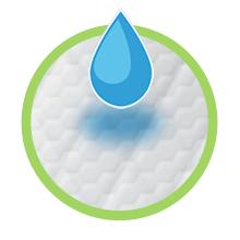 Breeze litter pads absorb moisture. Illustration.