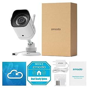 Amazon com : Zmodo 1080p Outdoor Wireless Smart HD Home
