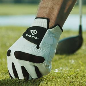 Golf Gove leather premium mens white golf