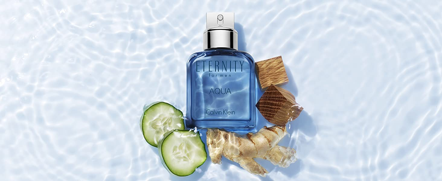 A watery surge of chilled cucumber and drenched green leaves deepens into a  heart of lavender and Szechuan pepper. Eternity for Men Aqua dries down to  a ... 2cf3902d2