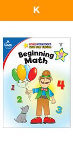 beginning math workbook for kindergarten