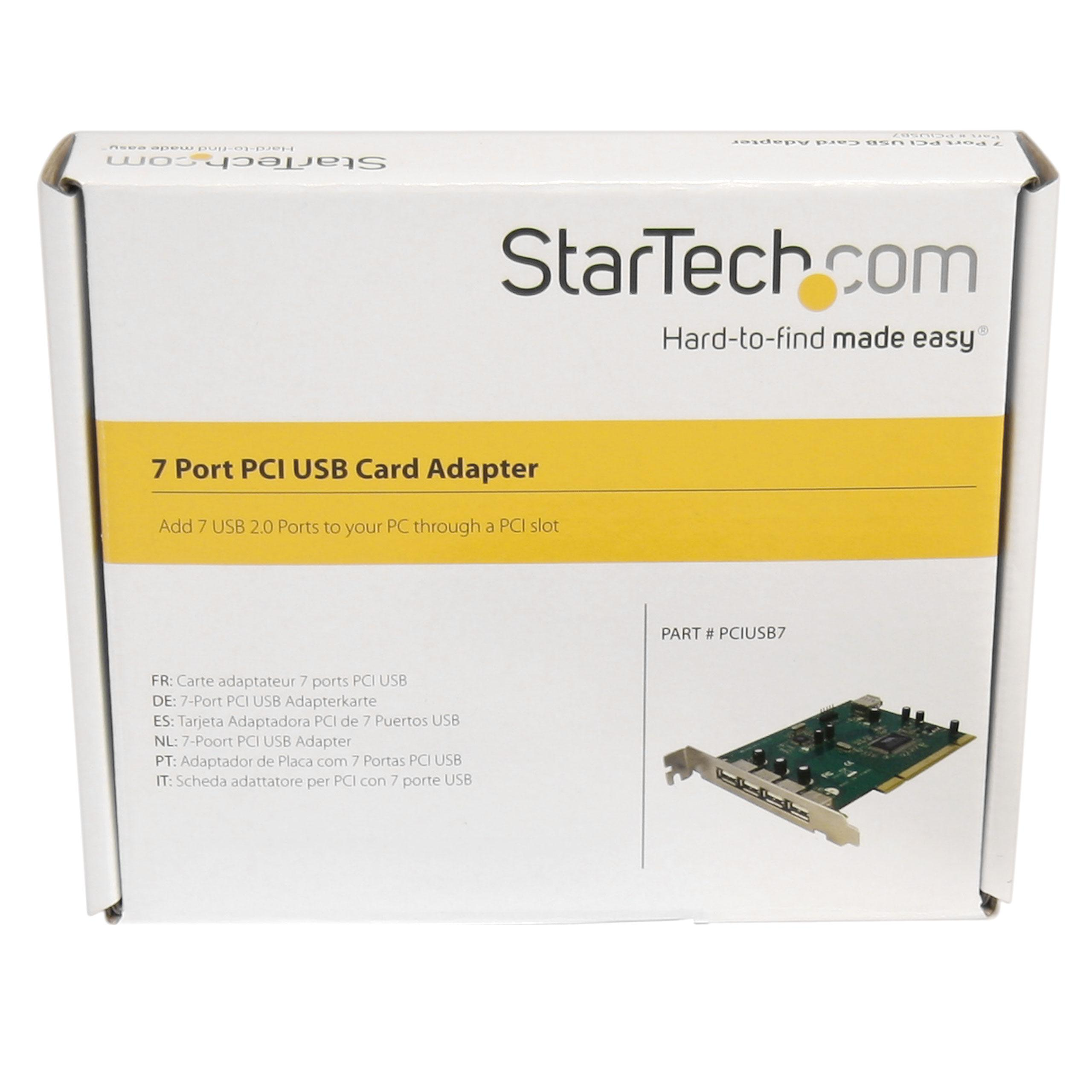 StarTech.com 7 Port PCI USB Card Adapter - PCI to USB 2.0 Controller Adapter (PCIUSB7)