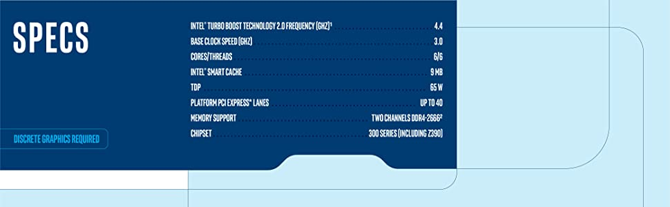 9th gen Intel Core i5-9500F processor