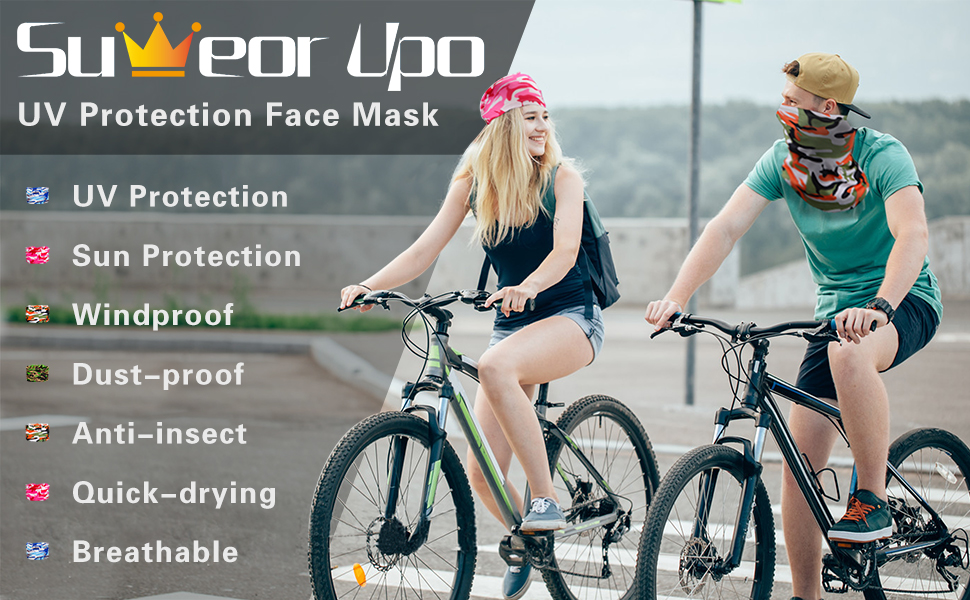 Camouflage Sun UV Protection face mask windproof dustproof antiinsect quickdrying breathable