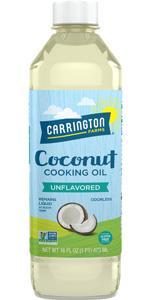 Carrington Farms Liquid Coconut Cooking Oil, Unflavored