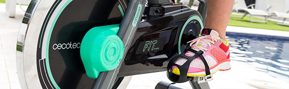 Cecotec Bicicleta Indoor Extreme 20. 20kg Volante inercia, Pulsómetro, Pantalla LCD, Resistencia Variable, Estabilizadores, SilenceFit: Amazon.es: Deportes y aire libre