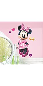 disney minnie bow-tique peel and stick wall decals, peel and stick wall decals