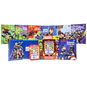 Me,reader,toy,toys,book,books,childrens,tablet,kids,kid,reader,marvel,superhero,super,hero - Marvel Super Heroes Spider-man, Avengers, Guardians, And More! - Me Reader Electronic Reader With 8 Book Library – Great Alternative To Toys For Christmas - PI Kids