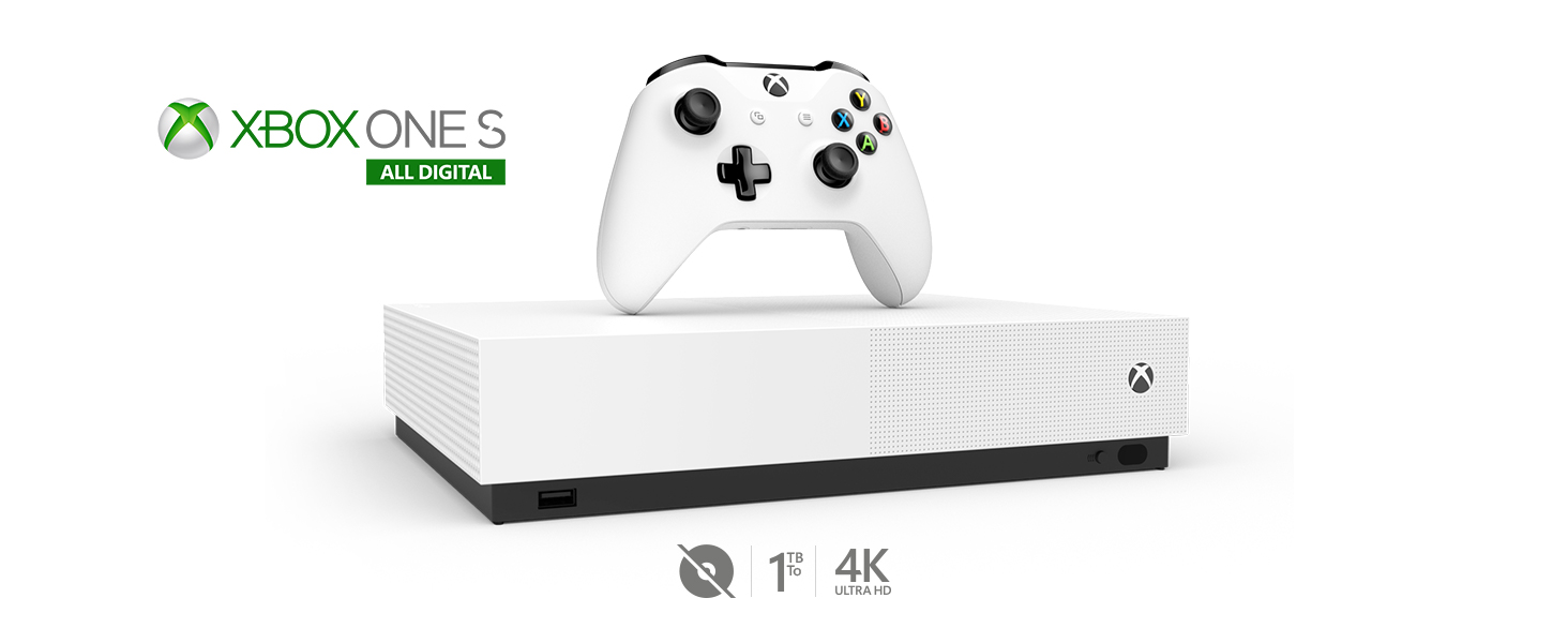 Xbox One S 1 TB All,Digital Edition Console (Disc,free