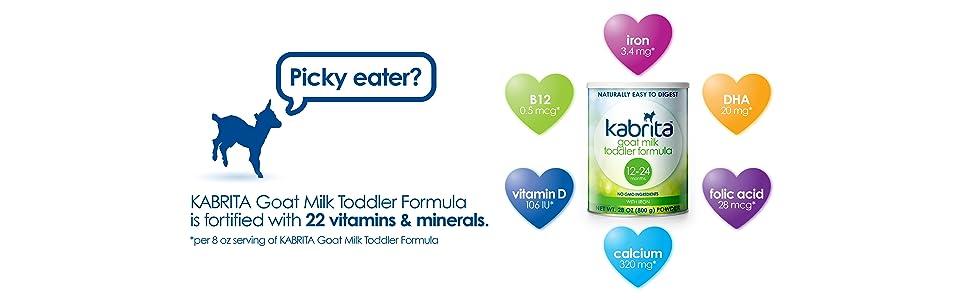 Goat Milk Formula Gentle Nutritious Sensitive Baby Toddler Food Natural Digestion Vitamins Minerals