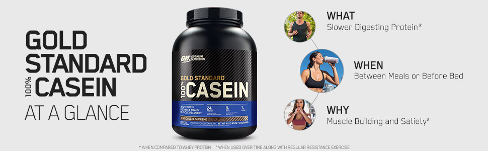 Gold Standard Casein, 100% Whey, Optimum Nutrition Protein Powder