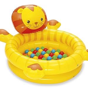 Bestway 52261 - Piscina de Bolas Hinchable Infantil León con 50 Bolas de Colores 111x98x61.5 cm: Amazon.es: Juguetes y juegos