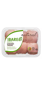 just bare chicken boneless skinless thighs natural organic poultry protein nutrition healthy home