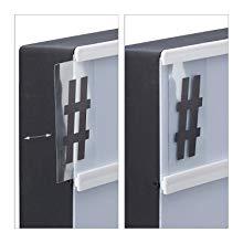 Color Blanco y Negro 4.5 x 30 x 30.5 cm 10021541 s/ímbolos y Cable USB Relaxdays Caja de luz led con 170 Letras