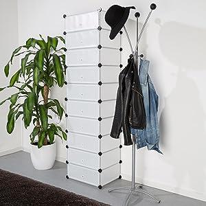 Versátil: el mueble zapatero de Levivo con 10 compartimentos