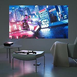 ASUS F1 Portable Projector Full HD Short-Throw 1200 Lumen HDMI VGA USB-A with Remote Control