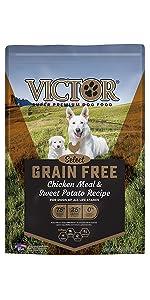VICTOR Grain Free Chicken Meal & Sweet Potato 30-lb