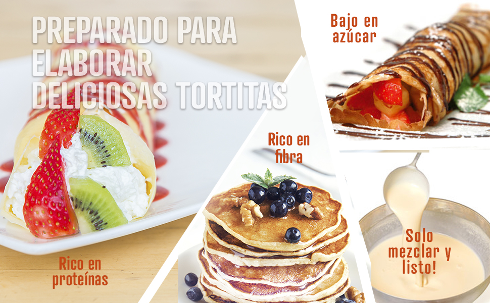 Weider Protein Pancake Mix Vainilla. Tortitas de harina de avena integral, enriquecidas con proteinas. Sabor Coco-Chocolate Blanco - 600 gr
