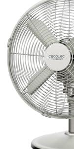 Cecotec Ventilador de Sobremesa EnergySilence 570 SteelDesk. 4 Aspas, Oscilante, 3 Velocidades, Motor de Cobre, Acabado Met‡lico, 45W: Amazon.es: Hogar
