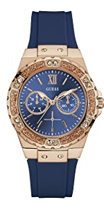 guess watches; guess watch; womens watch; blue watch; limelight watch; silicone watch