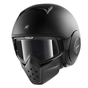 Shark S-DRAK Carbon Vinta DUS casco da moto L nero//grigio