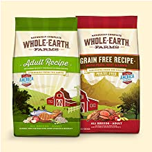 Whole Earth Farms Grain Free and With Grain Adult Recipes