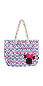 Cerdá, Bolso de playa de Minnie Mouse-100% Algodon Unisex niños, Rosa, 52 cm: Amazon.es: Amazon.es
