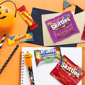 Bring Halloween fun to the classroom with a variety of Halloween candies.