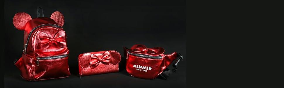Rouge W x H x L 11x22x22 cm ARTESANIA CERDA Mochila Casual Moda Minnie Rouge Sac /à Dos Mixte