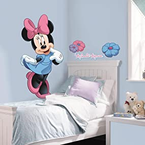 minnie mouse peel and stick wall decal, peel and stick wall decal