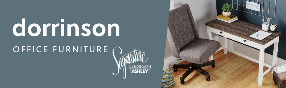 h287 dorrinson home office collection signature design by ashley furniture
