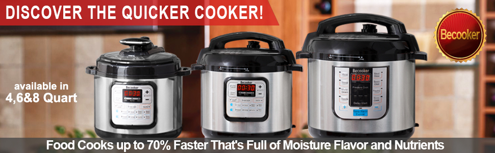 Amazon.com: Becooker 4/6/8 Qt 5 en 1 olla a presión ...