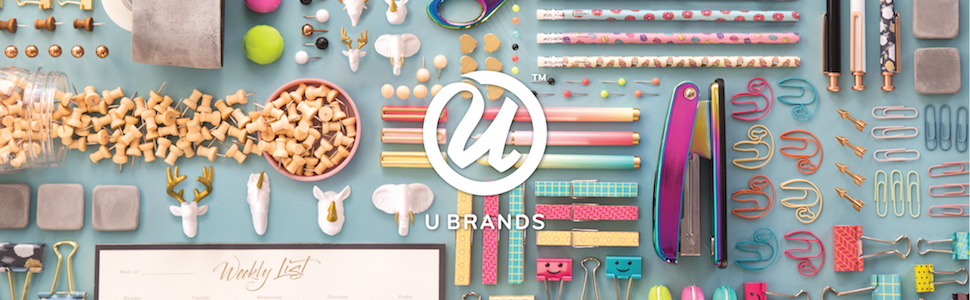 u brands logo, u brands stationery products, u brands home office products, stylish office products