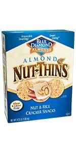 Nut-Thins Cracker Crisps, Original Almond