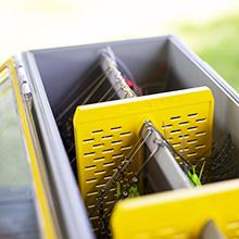 plano edge spinnerbait storage box, spinnerbait tackle box, deep storage box, waterproof storage box