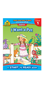 Start to Read, Early Reader Book, Early Reading, Reading books for kids, I want a pet book