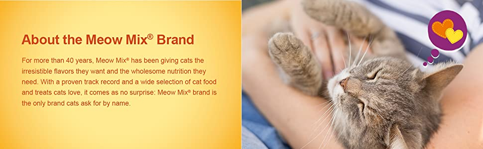 Meow Mix is the only brand cats ask for by name