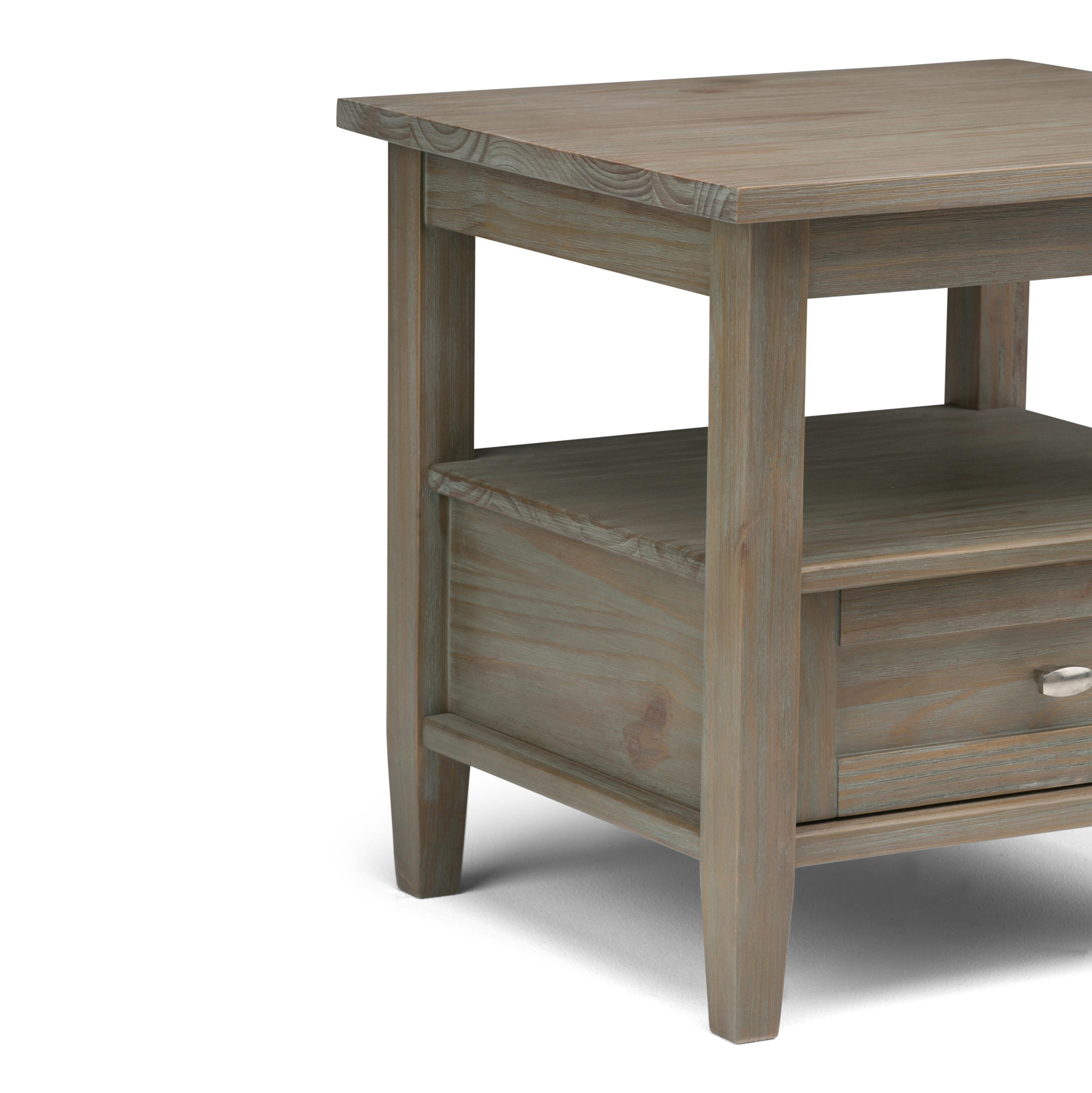Amazon Linon Titian Rustic Gray Coffee Table Kitchen: Amazon.com: Simpli Home AXWSH002-GR Warm Shaker Solid Wood