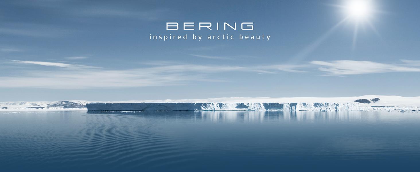 Reloj de pulsera Bering Cristal de zafiro Reloj Solar Bering Skagen Diseño clásico Reloj Milanesa