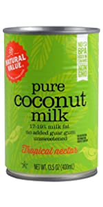 pure natural value coconut milk