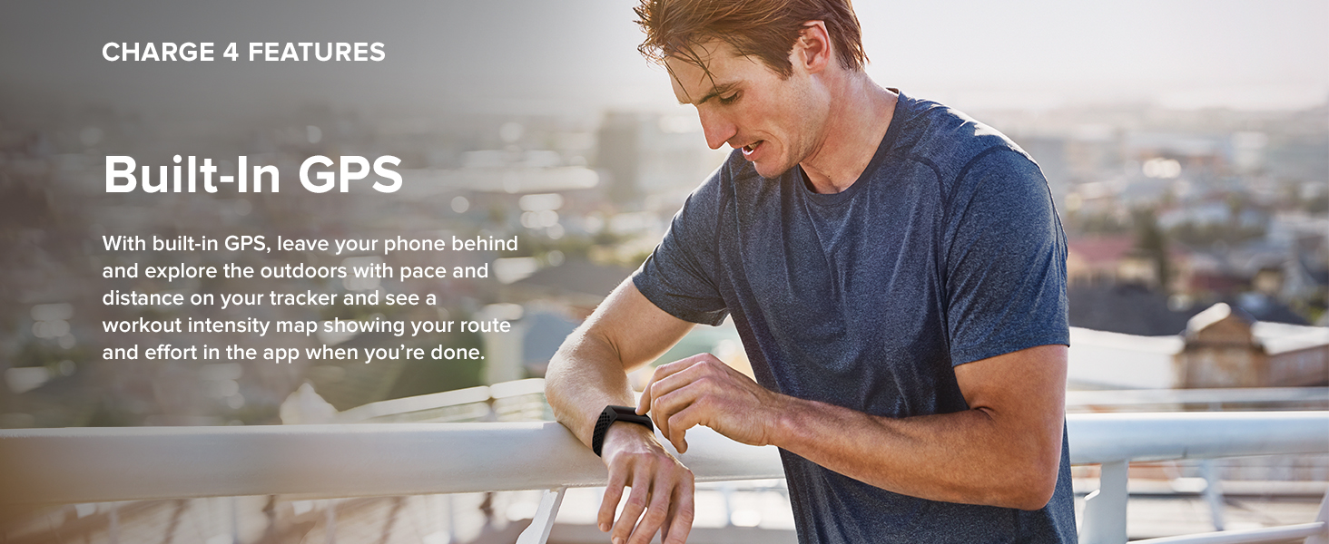 Fitbit Charge 4 - Built-in GPS
