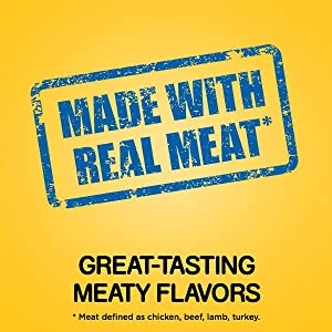 Real Meat, Great, Taste, Chicken, Lamb, Beef, Turkey, Easy to Chew, Healthy, Gourmet, High Protein