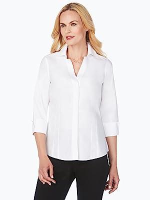 Taylor Non-Iron Pinpoint 3/4 Sleeve Shirt