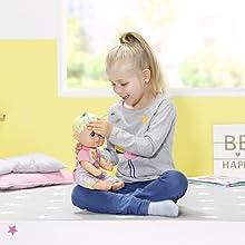 Sonstige Babypuppen Zapf 826164 Baby Born Funny Faces Bouncing Baby