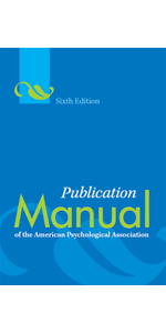 Publication Style Manual APA 6th Edition book cover